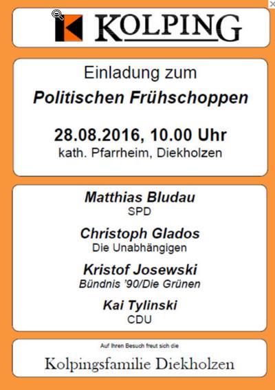 Politische Frühschoppen 2016 Diekholzen