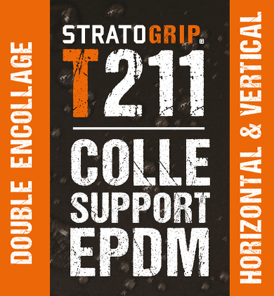 STRATOGRIP T211 - colle support EPDM