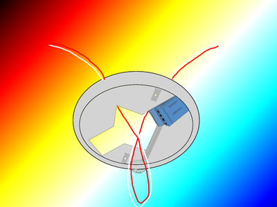 """2心回しの感知器配線は""""輪""""の図解"""
