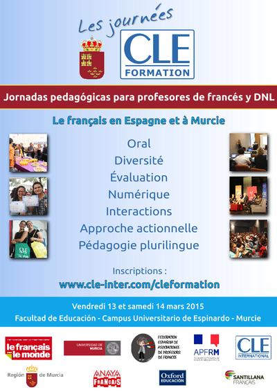 Affiche des Journées CLE Formation à Murcie - 2015