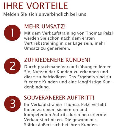 Die Verkaufstraining Mission von Thomas Pelzl Verkaufstrainer hat Kundenzufriedenheit und Kundenakquise zum Ziel