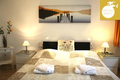 Villa Sirene Binz, Wohnung Nr. 2: großes Elternschlafzimmer