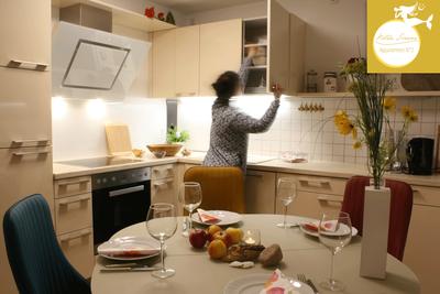 Villa Sirene Binz, Wohnung Nr. 2: moderne Küche vollausgestattet