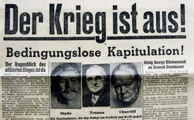 Tilfangetagne tyske  soldater i Berlin maj 1945