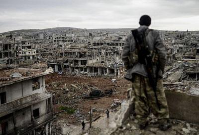 """Kobane-by efter slaget med """"Islamisk Stat"""""""