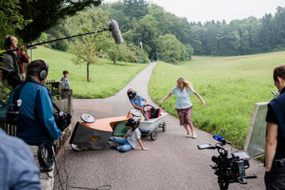 "on set of the shooting of ""Der Wolf ist tot"""