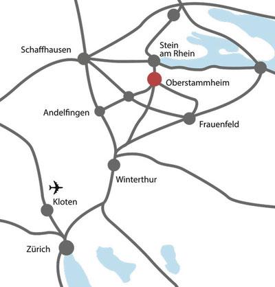 Lageplan Hirschen-Ensemble - Gasthof Hirschen Oberstammheim