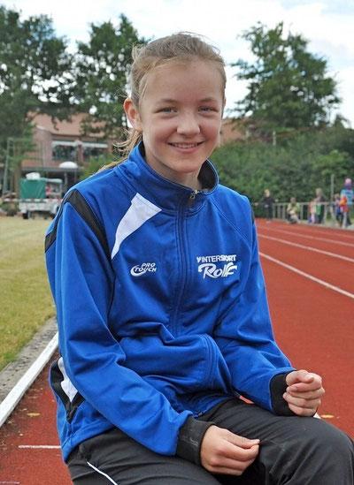 Nachwuchstalent Amelie Schulz (VfL Stade) blieb im Dreikampf unter ihren Möglichkeiten, wurde trotzdem Kreismeisterin (W 12).