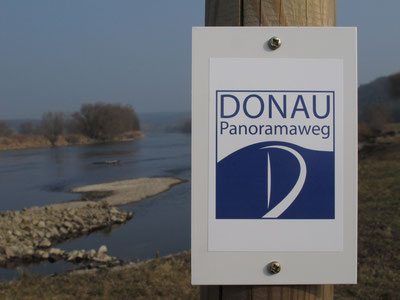 Beschilderung Donau-Panoramaweg