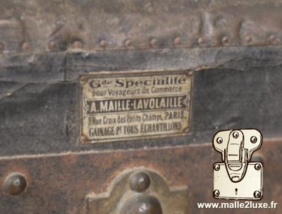 old Lavolaille mesh trunk traveling salesman