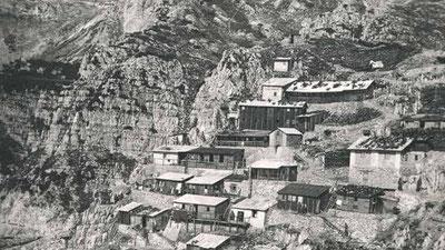 Baracche dove ora sorge il rifugio Achille Papa - Monte Pasubio