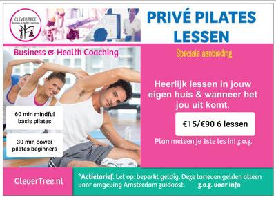 Privé pilates lessen v.a. €10