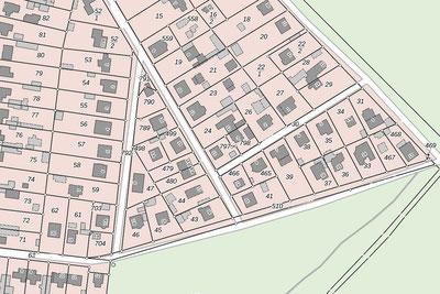 Grundstücksteilung, Grundstücksgrenzen, Gemarkung