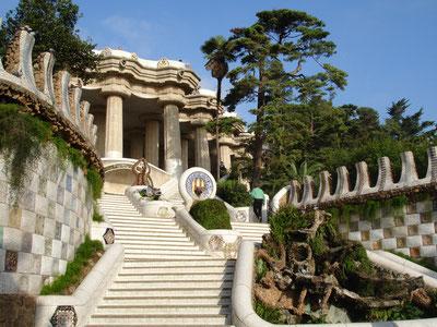 casas de vacaciones costa brava, Parque Güell, casas de vacaciones costa brava