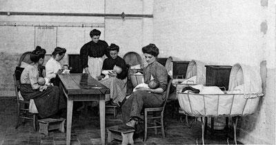 Chambre d'allaitement mise en place à la filature Duriez à Seclin.