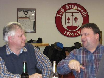 Friedrich Tönsing (SV Arrenkamp) und Jörg Siekermann (TuS Stemwede)
