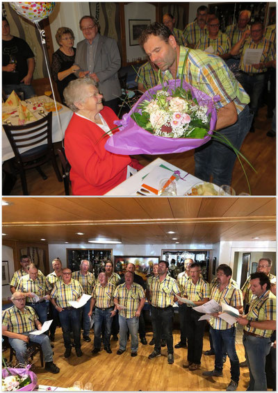 Dani Hochreuter gratuliert Theres Bachmann