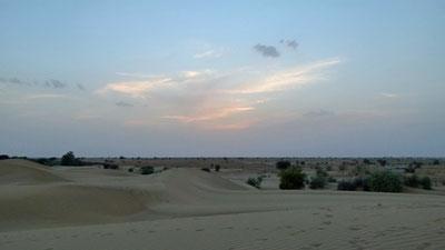 Sunset in der Wüste Thar bei Sodakore!