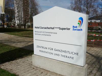 Eingangstafel Zurzacherhof 3-Stern-Superior