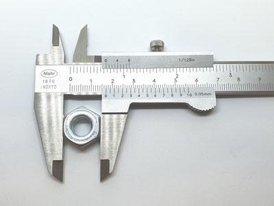 Messschieber ablesen, Schieblehre ablesen, Außenmessung, Außendurchmesser, Durchmesser messen