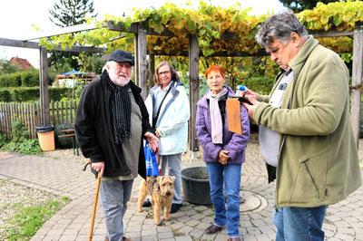 Von links: Dieter Egner, Christa Stoppel, Francoise Hönle, Kurt Stoppel
