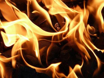 Schmerzen, die wie Feuer brennen