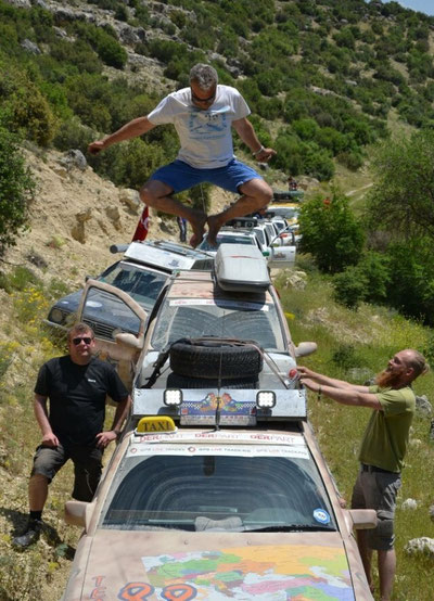 Team 88 in einem Canyon in der Türkei