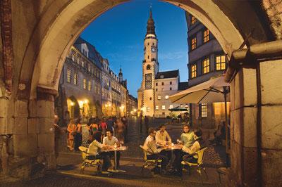 Der Untermarkt - Beliebter Treffpunkt für Nachtschwärmer © Sabine Wenzel