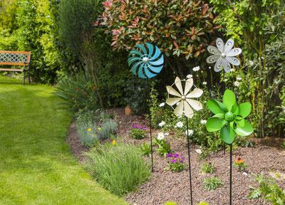 ©Nortene, Moulin à vent ZEPHIR en métal à planter dans le jardin