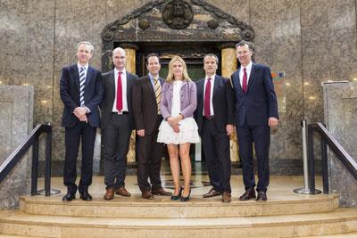 V.l.n.r.: Thomas Müller, Dr. Jens Peters, Andreas L. G. Reimann,  Prof. Dr. habil. Lilia Waehlert, Michael Hennrich, Prof. Dr. med. Achim Jockwig  (Foto: Jakob Börner)