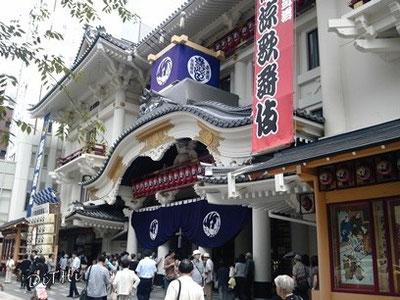 歌舞伎座正面玄関