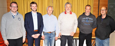 (v.l.n.r.) Markus Schneider, Dr. Marc Wolfram, Christian Radkovsky als für Odersbach zuständigen Stadtrat, Karl-Peter Wirth, Heinz-Jürgen Deuster und Jan Kramer