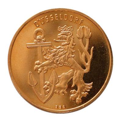 Goldmedaille Wappen Düsseldorf