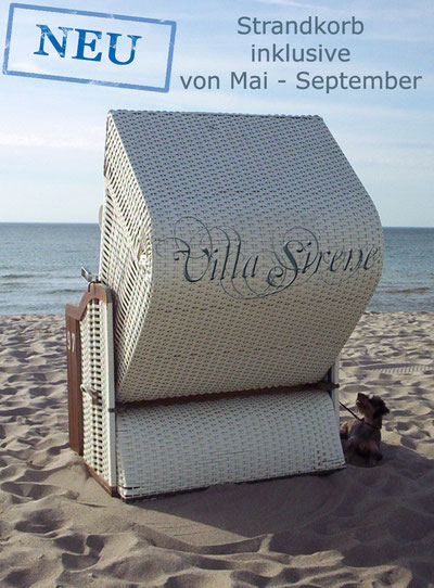 Ferienwohnung Villa Sirene mit Strandkorb