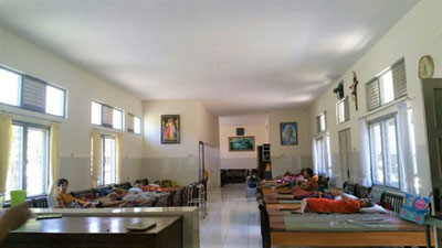 The women of Wisma Rela Bhakti resting. They were all homeless and living in unsafe conditions before moving in.
