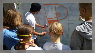 Graffiti - Workshop im Spunk