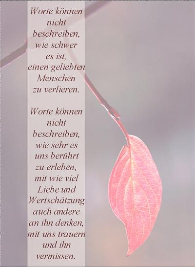 """Abschiedstexte für Trauerschleifen - """"Blütenmelodie"""" Floristikstudio ..."""