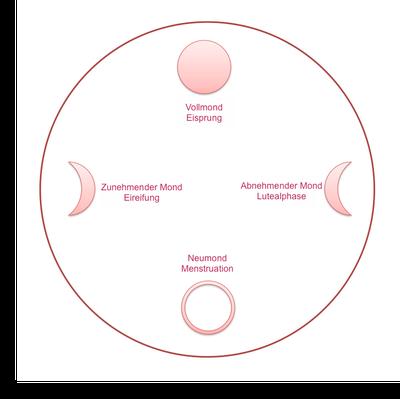 Weiblicher Zyklus und Mondphasen