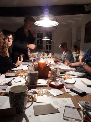 Bastelkurs, Papierbasteln, Advent, Kleine Mitbringsel, Eventhäuschen, Meine Auszeit, Mücke,