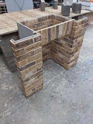 Lambeth Yellow Multi 4 piece with enhanced brick pillars_pre-install