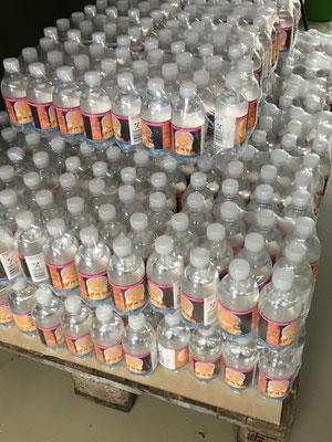 Mineralwasserflaschen. Ein prima  Give Away.