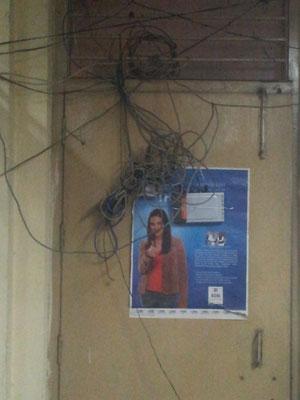 Die Haus-Verkabelung im Kundendienst des Nr. 1 Telekommunikationsanbieters in Indien...