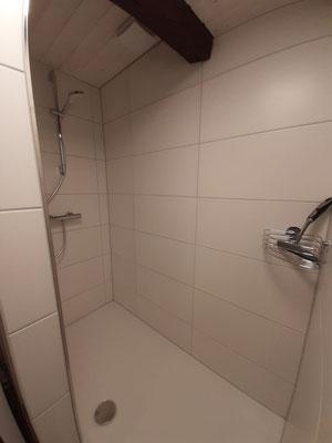 Viel Platz in der Dusche