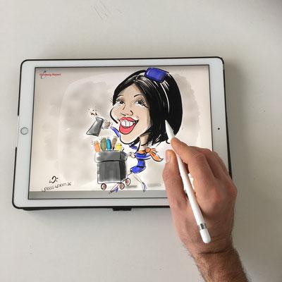 Ihre Karikatur digital handgezeichnet