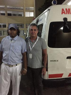 Transportfahrer des lokalen Rettungsdienstes