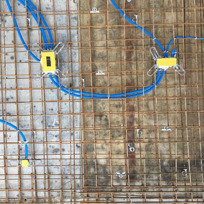 Elektrorohreinlagen Wände Rohbau