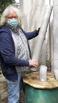 Ein neues Rohr für das Regenwasser