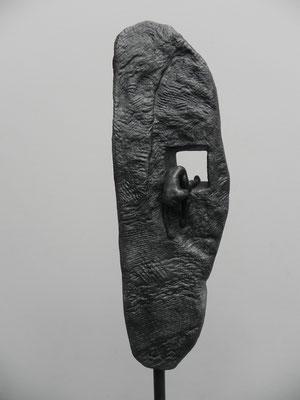 """""""Echappée"""" gris bronze sur socle béton   160 cm      250 euros"""
