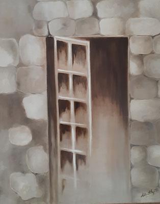 Fenêtre / 60 x 72 cm / huile / Prix  : 300 euros