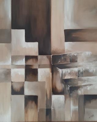 Escalier / 60 x 72 cm / huile / Prix : 450 euros